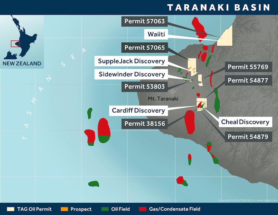 TAG Oil Taranaki Permits