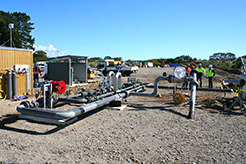 The vector meter skid at the Cheal C site. It may not look like much but it was the last piece of work before we turned Cheal gas on to the sales line.