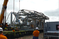 Pipeline rack modules and compressor