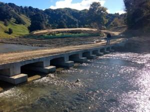 We built a small bridge over a seasonal stream…