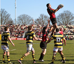 Photo: Joseph Johnson/photosport.co.nz Ash Parker takes the ball from a lineout for Canterbury, in Saturday's ITM Cup drubbing.