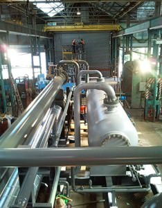 LTS Skid: This is the guts of our process. The LTS skid is where we send our high pressure rich gas and it flows through a JT (Joules Thomson) valve. Through this JT valve there is a significant pressure drop, and in turn the temperature drops as well. The temperature drop causes liquids entrained in the gas phase to drop out. These liquids, once dropped out, remain stable in liquid form and are shipped to our tanks.