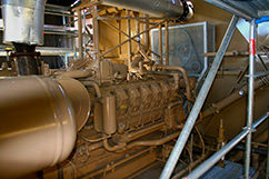 Here's the new compressor being fine-tuned. This is the unit that should increase field production to 8 to 10 million cubic feet of gas per day in the near future.