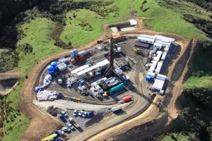 Ngapaeruru-1 drilling site, East Coast Basin