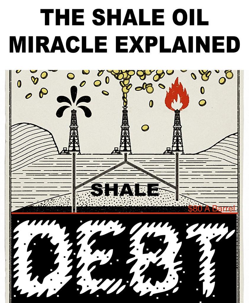shale oil debt cartoon