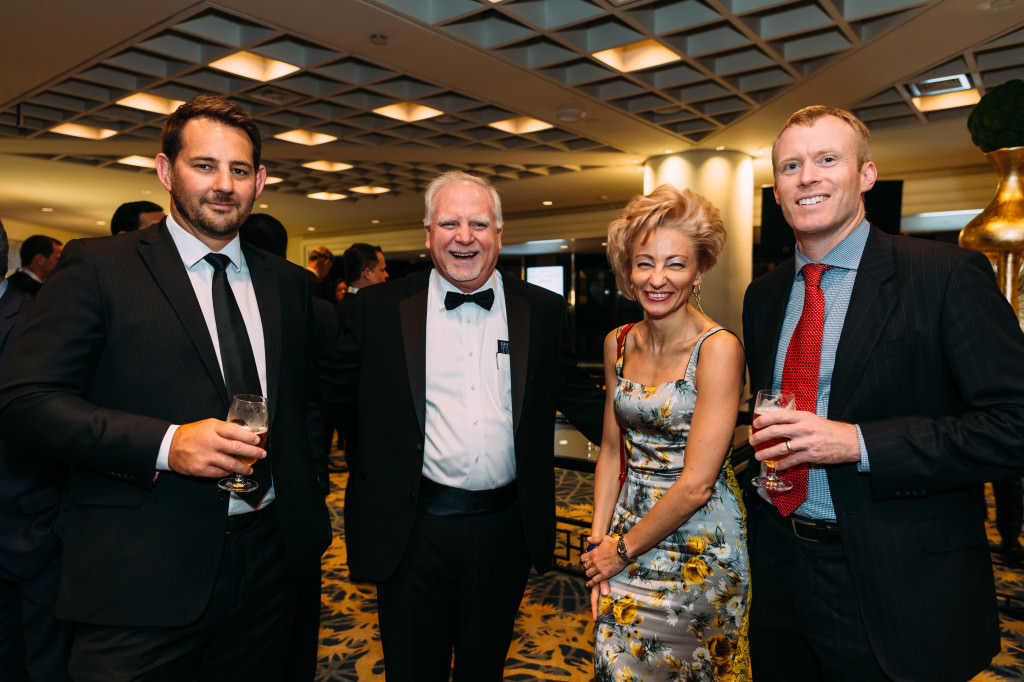 From left to right: Ryan Brown (AWE Limited), Mike Foley (PLSX), Anastasia Deulina (Flowstream Commodities), Toby Pierce